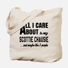 All I care about is my Scottie chausie Tote Bag