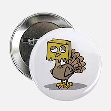"Hiding Paper Bag Head Turkey 2.25"" Button (100 pac"