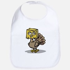 Hiding Paper Bag Head Turkey Bib