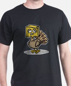 Hiding Paper Bag Head Turkey T-Shirt