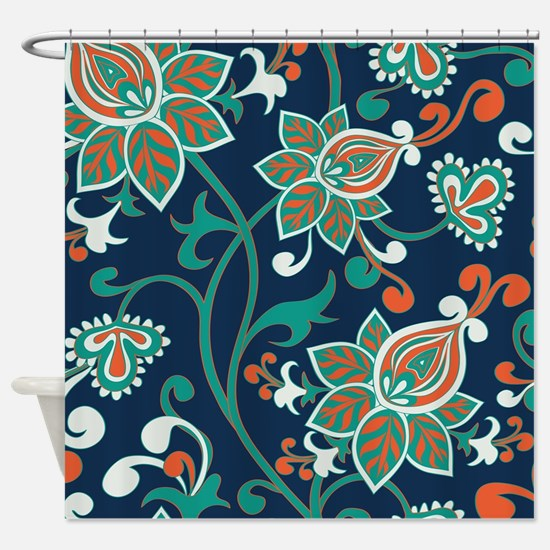 red and teal shower curtain. Unique Teal and red Shower Curtain And Red Curtains  CafePress