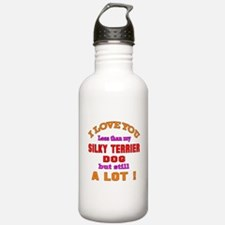I love you less than m Water Bottle