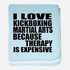 kickboxing Martial Arts Therapy baby blanket
