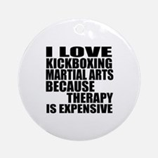 kickboxing Martial Arts Therapy Round Ornament