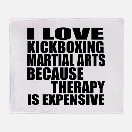 kickboxing Martial Arts Therapy Throw Blanket