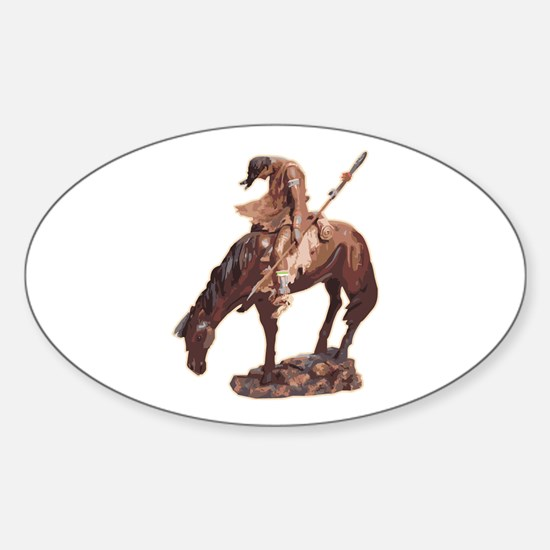 Native American Oval Decal