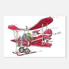 Santa Biplane Postcards (Package of 8)