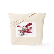 Santa Biplane Tote Bag