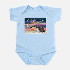 Xmas Star & Newfie trio Infant Bodysuit