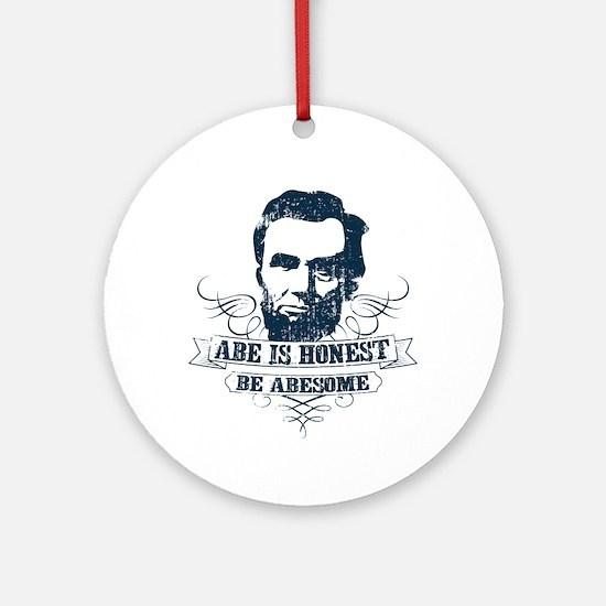 Honest Abesome Round Ornament