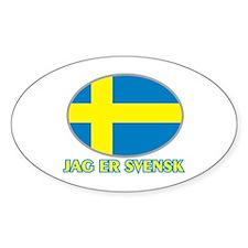 I Am Swedish Oval Decal