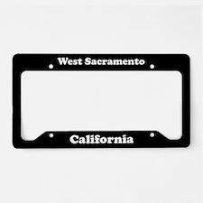 West Sacramento CA License Plate Holder