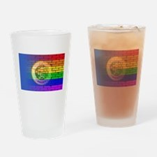 Rainbow Wall Minnesota Drinking Glass