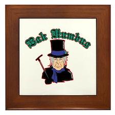 Scrooge Bah Humbug Framed Tile