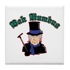 Scrooge Bah Humbug Tile Coaster
