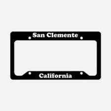 San Clemente CA License Plate Holder