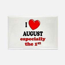 August 1st Rectangle Magnet