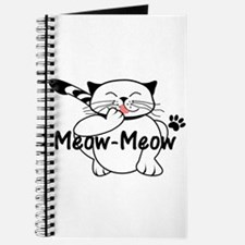 Meow-Meow the happy cat grooming Journal