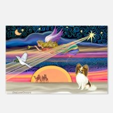 Xmas Star/Papillon Postcards (Package of 8)