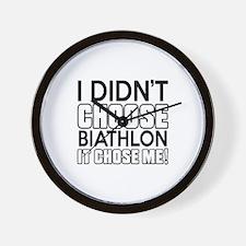 Biathlon It Chose Me Wall Clock