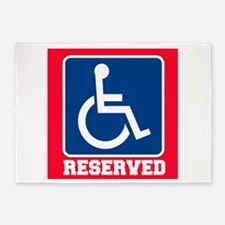 Handicapped Reserved 5'x7'Area Rug