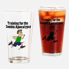 Cute Running zombie Drinking Glass