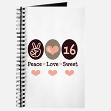 Peace Love Sweet Sixteen 16th Birthday Journal