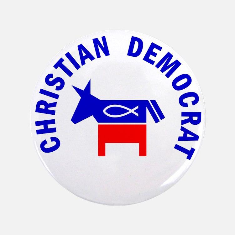 "Christian Democrat 3.5"" Button"