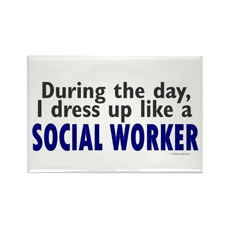 Dress Up Like A Social Worker Rectangle Magnet