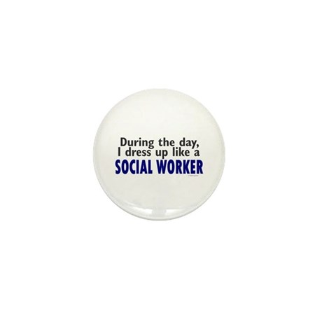 Dress Up Like A Social Worker Mini Button (10 pack
