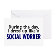 Dress Up Like A Social Worker Greeting Card
