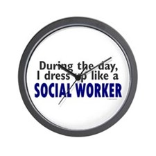 Dress Up Like A Social Worker Wall Clock