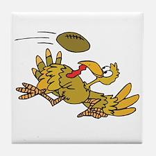 Turkey Playing Football Tile Coaster