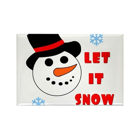 LET IT SNOW Rectangle Magnet (10 pack)