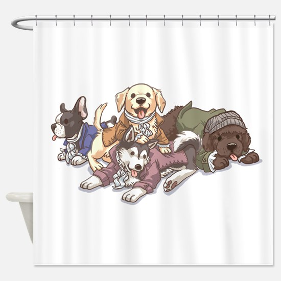 Hamilton Musical x Dogs Shower Curtain