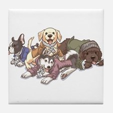 Hamilton Musical x Dogs Tile Coaster