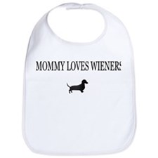Mommy Loves Wieners Dachshund Bib
