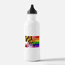 Rainbow Wall Maryland Water Bottle