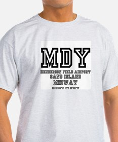 AIRPORT CODES - SAND ISLAND - MIDWAY T-Shirt
