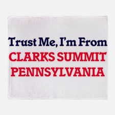 Trust Me, I'm from Clarks Summit Pen Throw Blanket