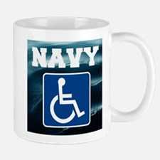 Navy Disabled Handicapped Veteran Mugs