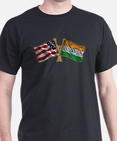 India Usa Friend ship falgs T-Shirt