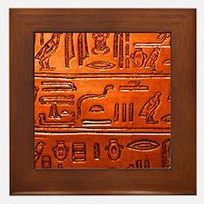 Hieroglyphs20160332 Framed Tile