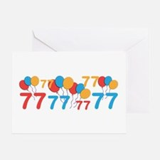 77 years old - 77th Birthday Greeting Cards