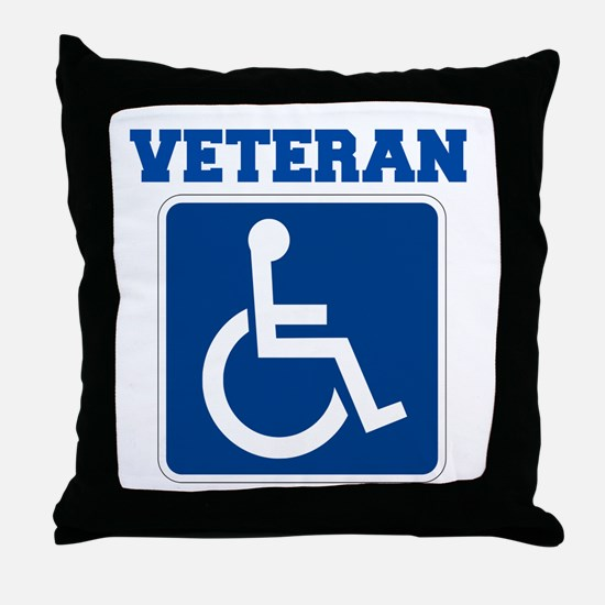 Disabled Handicapped Veteran Throw Pillow