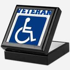 Disabled Handicapped Veteran Keepsake Box