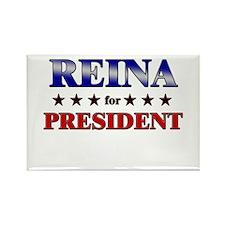 REINA for president Rectangle Magnet