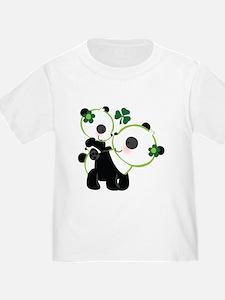 Irish Panda Bear Shamrock T-Shirt