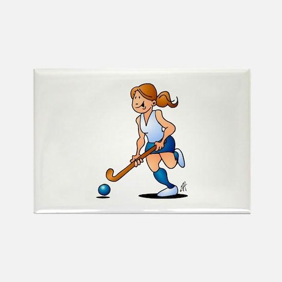 Field hockey girl Magnets
