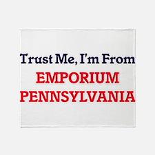 Trust Me, I'm from Emporium Pennsylv Throw Blanket